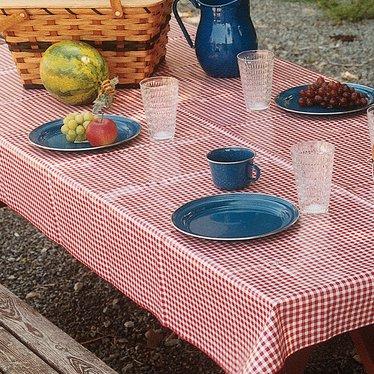Round Vintage Vinyl Tablecloths