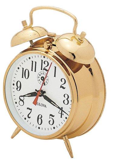 Brass Twin Bell Alarm Clock