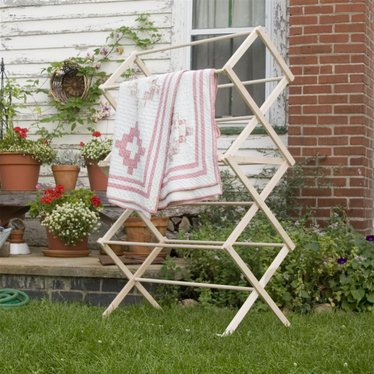 Wooden Clothes Drying Rack Large Lehman S