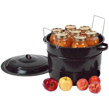 Black Enamelware Canner - 21.5 qt