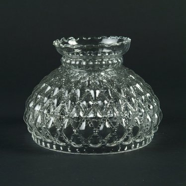 Clear Diamond Quilt Oil Lamp Shade