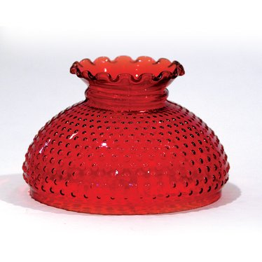Cranberry Hobnail Oil Lamp Shade