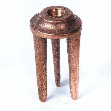 Bronze Fork for Reading Apple Peeler