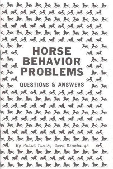 Horse Behavior Problems Book