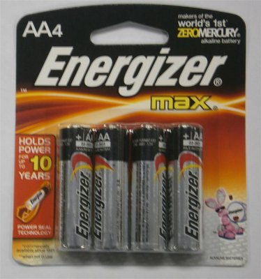 4 AA-Cell Energizer Batteries