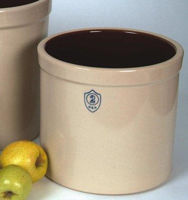 2 Gallon Numbered Stoneware Crock