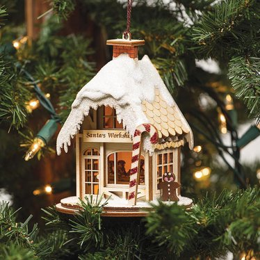 Handmade Santa's Workshop Ornament