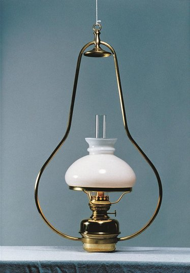 French Alps Brass Hanging Brass Cottage Oil Lamp