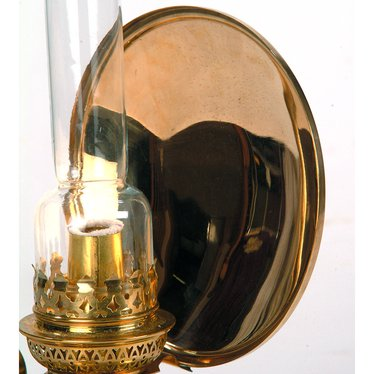 Solid Brass Reflector for French Alps Brass Oil Lamps