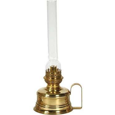 French Alps Brass Shelf and Wall Lamp