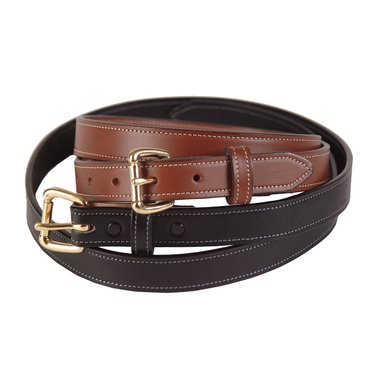 Amish-Made Dressy Leather Belts - 1 inch wide