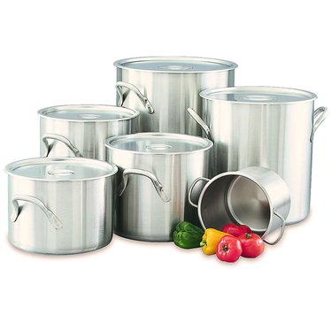 Stainless Stockpots with Lids by Vollrath
