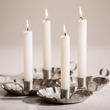 "10"" White Dripless Candles - Pack of 12"
