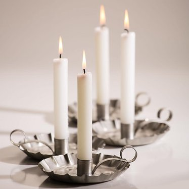 "6"" White Dripless Candles - Set of 2"