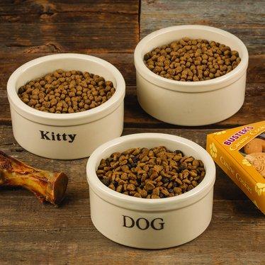 Stoneware Pet Bowls - Small