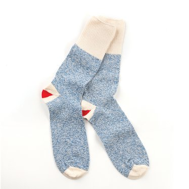 Rockford Red Heel Blue Socks