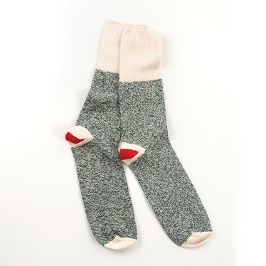 Rockford Red Heel Green Socks