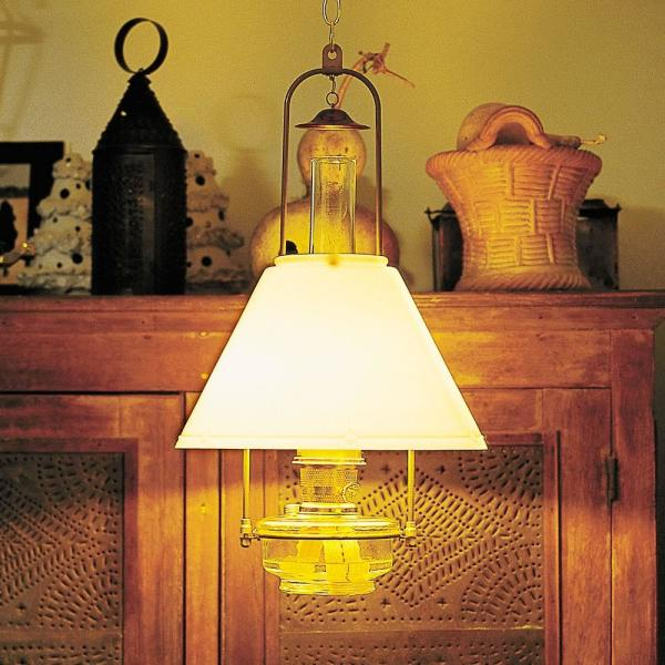 Aladdin classic tilt frame oil lamp with opal shade