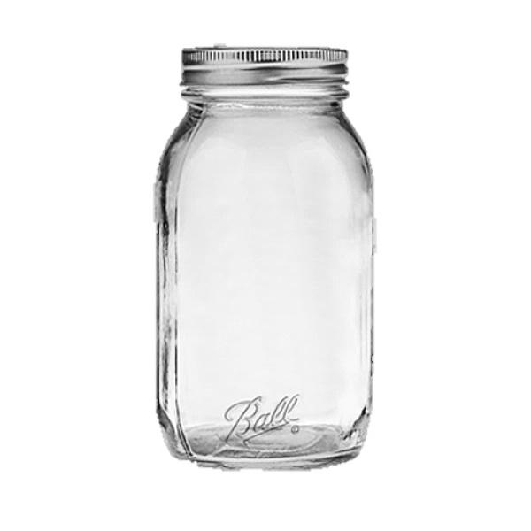 Ball Smooth-Sided Regular Mouth Quart Jars (12)
