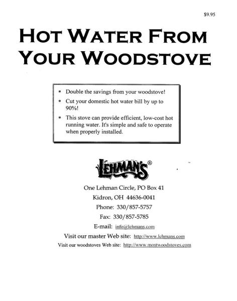 Hot Water from your Woodstove Booklet