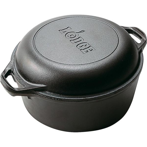 Lodge Logic Cast Iron Double Dutch Oven