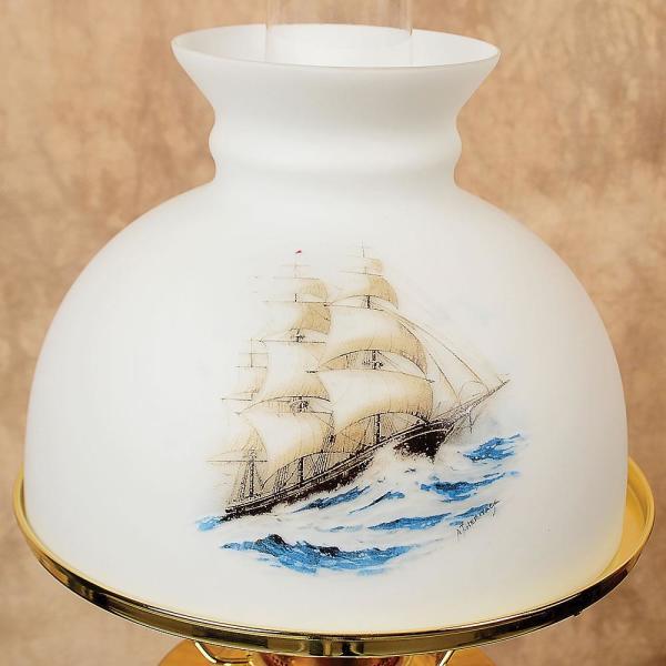 Aladdin sailing ship glass oil lamp shade lamp shades lehmans aladdin sailing ship glass oil lamp shade aloadofball Image collections