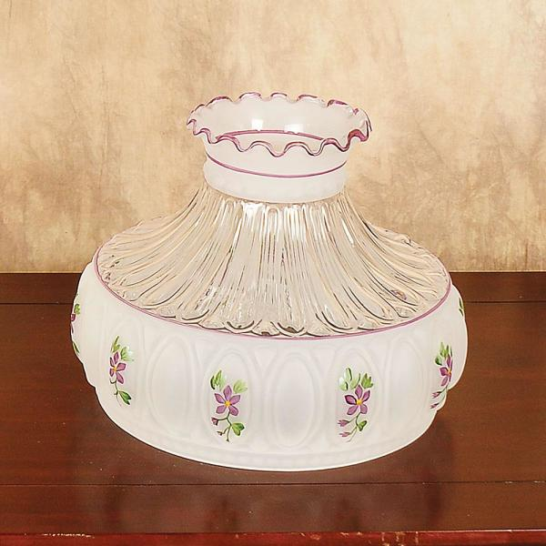 Aladdin Amethyst Rose Glass Oil Lamp Shade