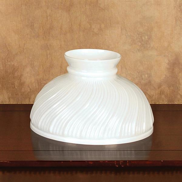 Aladdin Opal Swirl Glass Oil Lamp Shade