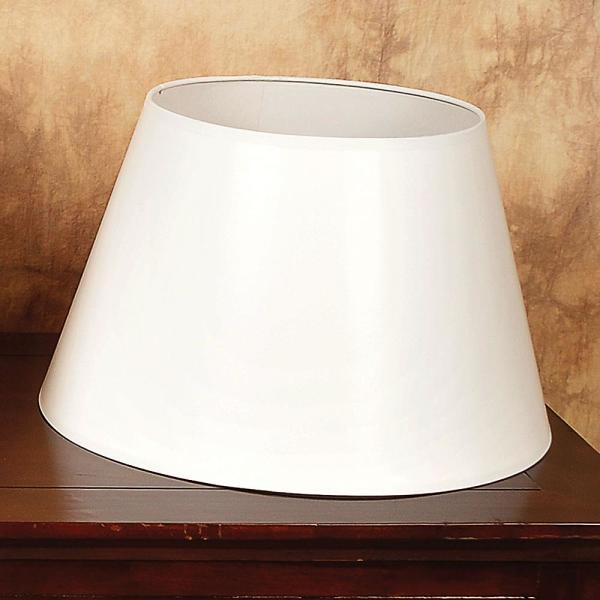 "Aladdin White 14"" Parchment Oil Lamp Shade"