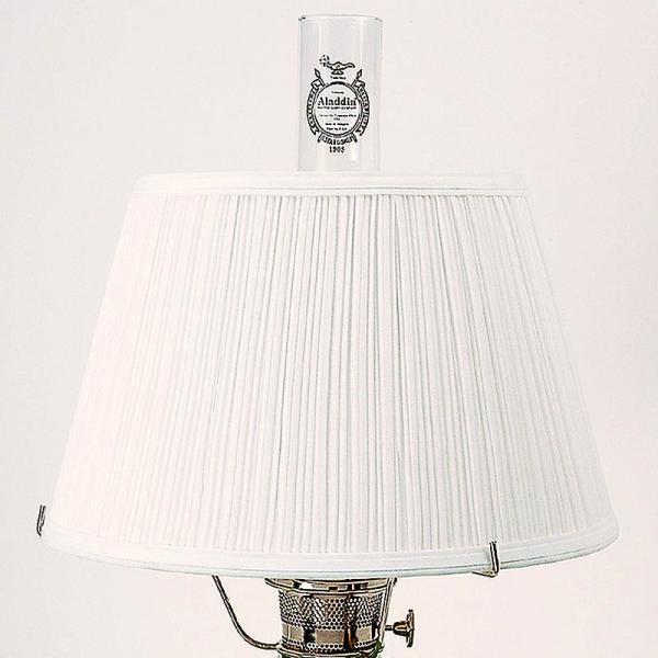 Aladdin white cloth pleated oil lamp shade