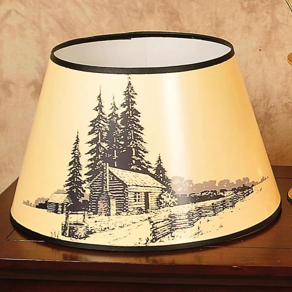 Aladdin Log Cabin Parchment Oil Lamp Shade