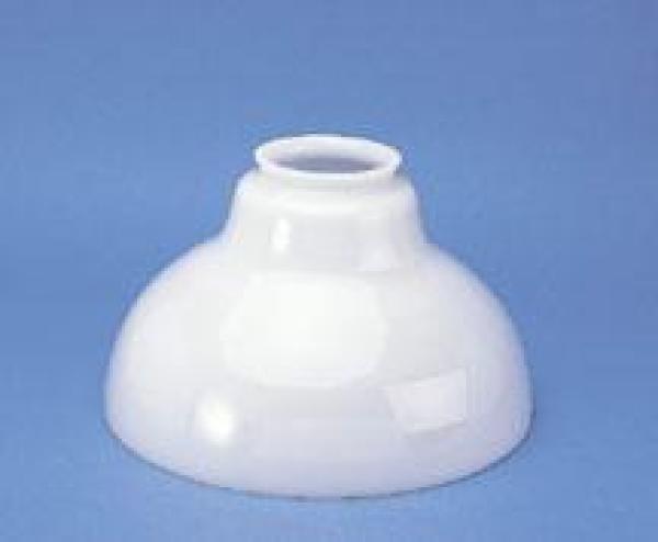 "Aladdin 12"" Opal White Bell Oil Lamp Shade"
