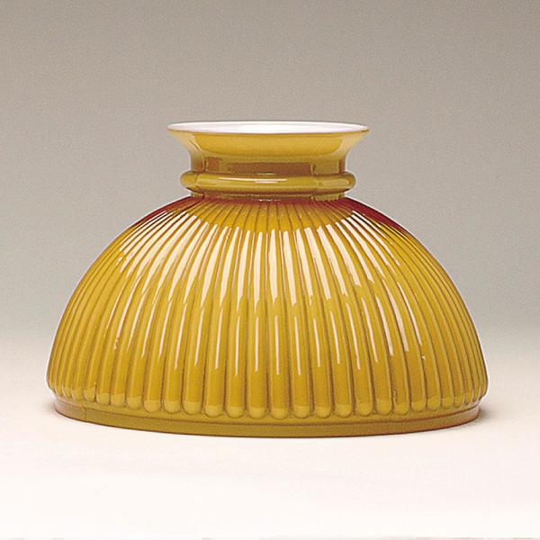 Aladdin Amber Ribbed Glass Oil Lamp Shade