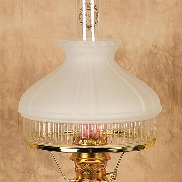 Aladdin White Top Glass Oil Lamp Shade