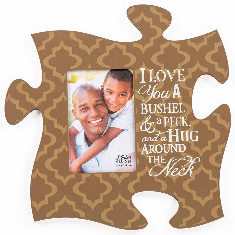 A Bushel & A Peck Puzzle Piece Photo Frame, Décor - Lehman\'s