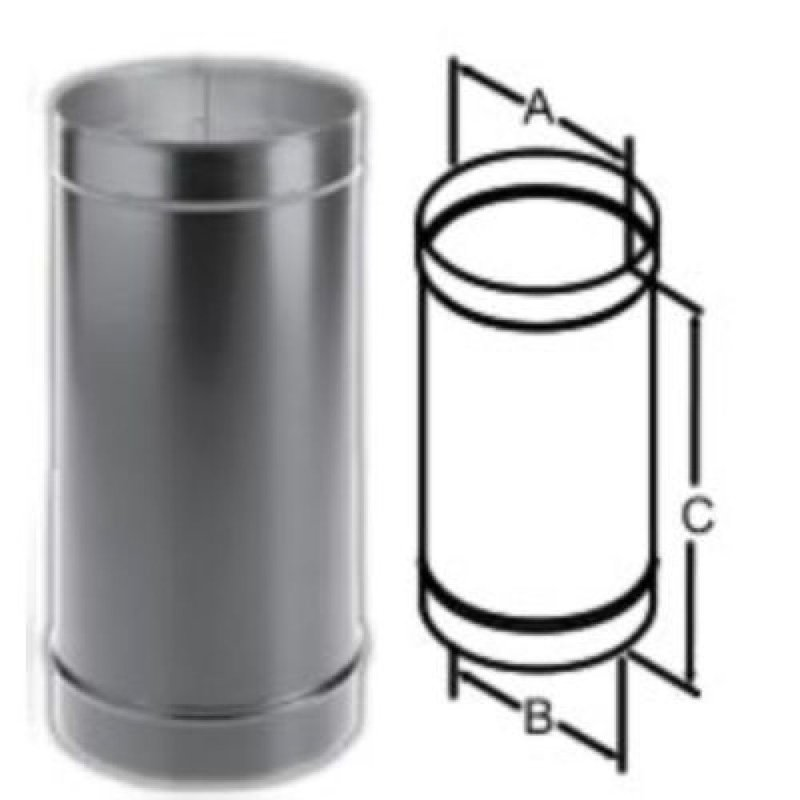 DuraBlack Oval to Round Adapter Wood Stove Pipe, Stove Parts ...