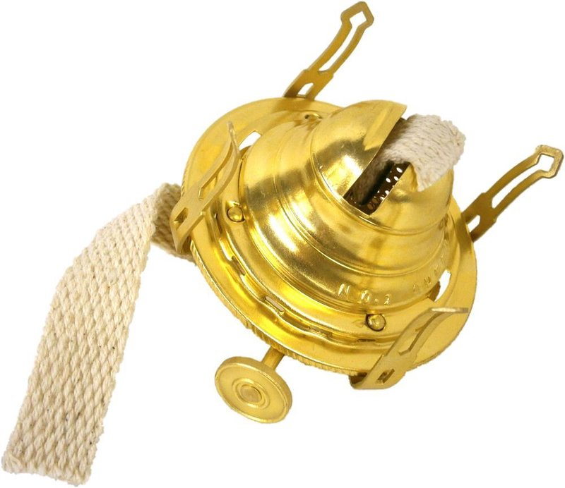 Best Queen Anne #1 Size Burner for Oil Lamps - Solid Brass