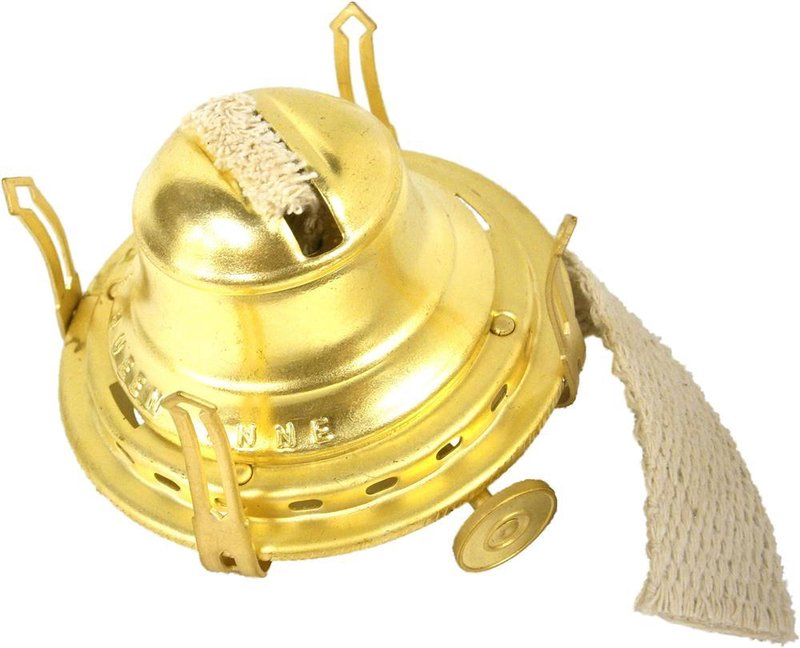 Best Queen Anne #2 Size Burner for Oil Lamps - Solid Brass