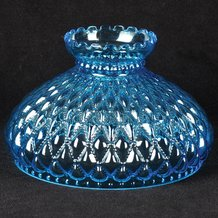 "10"" Blue Diamond Quilt Oil Lamp Shade"