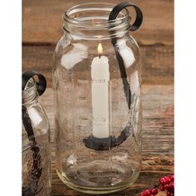 Taper Candle Hooks for Wide-Mouth 1/2 Gallon Jars