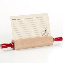 Rolling Pin Recipe Card Holder
