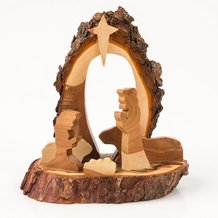 Handcrafted Wooden Nativity - Small