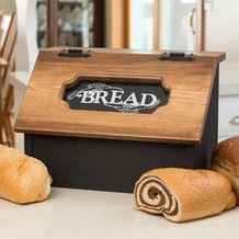 Pine Hinged Bread Box