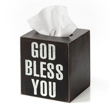 God Bless You Tissue Box Square Cover