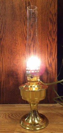 Aladdin Brass Electric Lamp