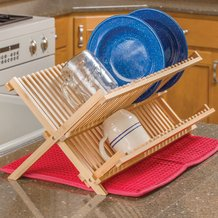 Traditional Dish Rack and Drying Mat Set