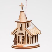 Handmade Christmas Chapel Ornament