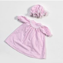 Eli & Mattie Doll Nightgown - Pink Flannel