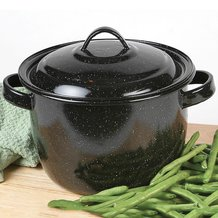 Enamelware Bean Pot