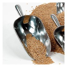 3-1/2 Cup Cast Aluminum Grain Scoops